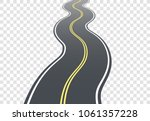 winding road on transparent... | Shutterstock .eps vector #1061357228