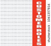 customer roles word  business... | Shutterstock .eps vector #1061357816