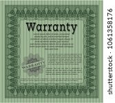 green retro warranty template. ... | Shutterstock .eps vector #1061358176