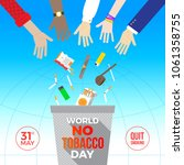 world no tobacco day   concept... | Shutterstock .eps vector #1061358755