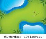 vector illustration golf course ... | Shutterstock .eps vector #1061359892