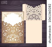 die laser cut wedding... | Shutterstock .eps vector #1061360282