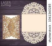 laser cut wedding invitation... | Shutterstock .eps vector #1061360285