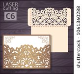 die laser cut wedding... | Shutterstock .eps vector #1061360288