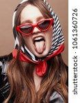 retro style portrait of amazing ...   Shutterstock . vector #1061360726