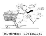 cartoon stick man drawing... | Shutterstock .eps vector #1061361362