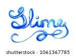 colorful 3d lettering slime.... | Shutterstock .eps vector #1061367785