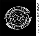 urgency written on a chalkboard | Shutterstock .eps vector #1061374046