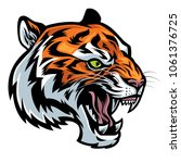 angry tiger head roaring | Shutterstock .eps vector #1061376725