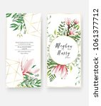 wedding invitation card... | Shutterstock .eps vector #1061377712