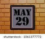 Small photo of Numbers on may 29th. or the twenty-ninth.Concept:Calendar. date of the year. date and time,Work schedule ,Deadline, Important day, anniversary, holiday, Diary