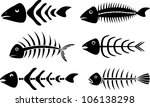 Various Fish Bones Stencils...