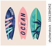surfboard vector set.summer t...   Shutterstock .eps vector #1061384342