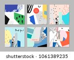 set of creative universal cards.... | Shutterstock .eps vector #1061389235