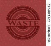 waste vintage red emblem   Shutterstock .eps vector #1061389352