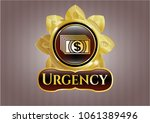 golden emblem or badge with... | Shutterstock .eps vector #1061389496