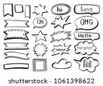 vector collection with sketch...   Shutterstock .eps vector #1061398622