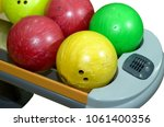 isolated bowling ball on... | Shutterstock . vector #1061400356