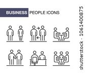 business people icons set... | Shutterstock . vector #1061400875