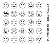 set of line art round emoticons ... | Shutterstock .eps vector #1061406185