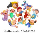 set funny kids in the jump | Shutterstock .eps vector #106140716