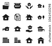 flat vector icon set   house... | Shutterstock .eps vector #1061410298