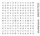 statistics icon set. collection ... | Shutterstock .eps vector #1061417222