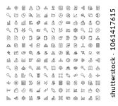statistics icon set. collection ... | Shutterstock .eps vector #1061417615