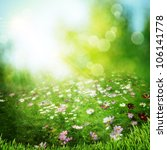 misty meadow on the early... | Shutterstock . vector #106141778