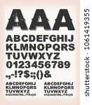 rusty grunge shadow abc font... | Shutterstock .eps vector #1061419355