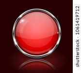red round glass button. 3d icon ... | Shutterstock .eps vector #1061419712