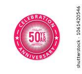 50 years anniversary... | Shutterstock .eps vector #1061420546