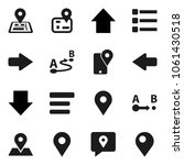 flat vector icon set   arrow...