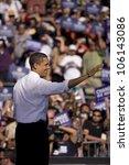 Us Senator Barack Obama Waving...
