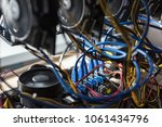 cryptocurrency mining rack with ...   Shutterstock . vector #1061434796