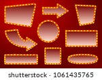 vector realistic glowing signs... | Shutterstock .eps vector #1061435765
