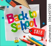back to school sale banner... | Shutterstock .eps vector #1061437205