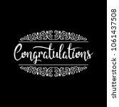 congratulations card. hand...   Shutterstock .eps vector #1061437508