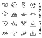 flat vector icon set   father...   Shutterstock .eps vector #1061438852