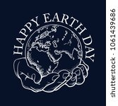 happy earth day typography.... | Shutterstock .eps vector #1061439686