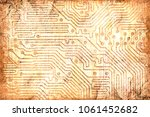 an ancient cave painting... | Shutterstock . vector #1061452682