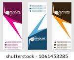 roll up banner stand template... | Shutterstock .eps vector #1061453285