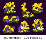 flower and blooming garden... | Shutterstock .eps vector #1061453582