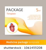 medicine package template... | Shutterstock . vector #1061455208