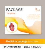 medicine package template... | Shutterstock . vector #1061455208