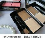 set of decorative cosmetics on...   Shutterstock . vector #1061458526