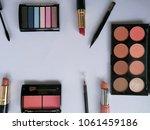 set of decorative cosmetics on...   Shutterstock . vector #1061459186