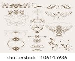 decorative elements for elegant ... | Shutterstock .eps vector #106145936