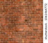 red brick wall seamless... | Shutterstock .eps vector #1061464772