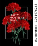 mother's day carnation card | Shutterstock .eps vector #1061476265